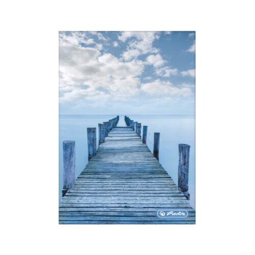 "DIN A5 /""Walking Blue/"" kariert Notizbuch 96 Blatt Herlitz Kladde"