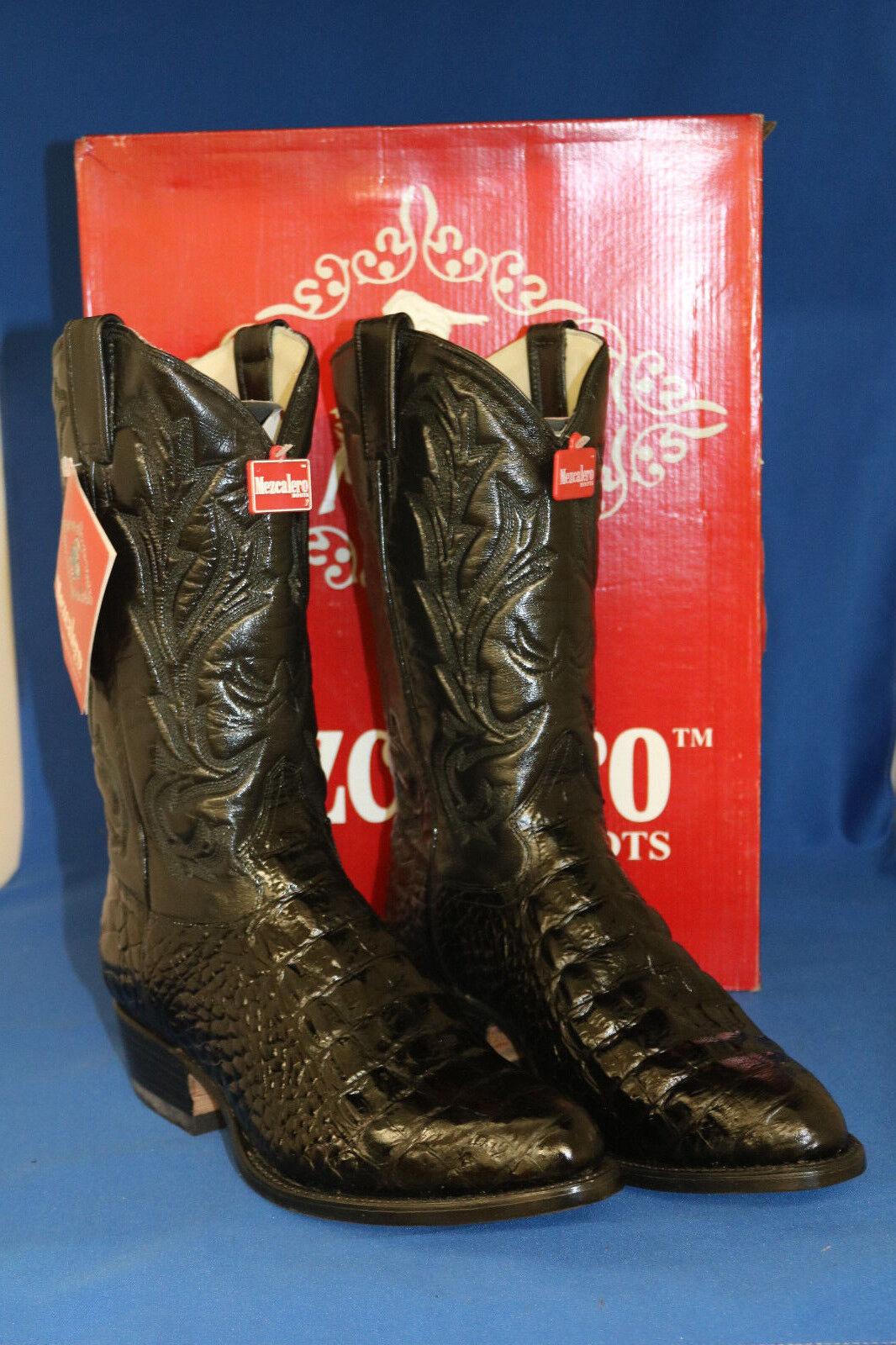 Mezcalero Stiefel  cowboystiefel schwarz croco neu leder handmade  gr. 41