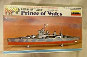 Lindberg-Snap-Fit-Prince-of-Wales-1-1000-Scale-Model-Kit-872-Factory-Sealed