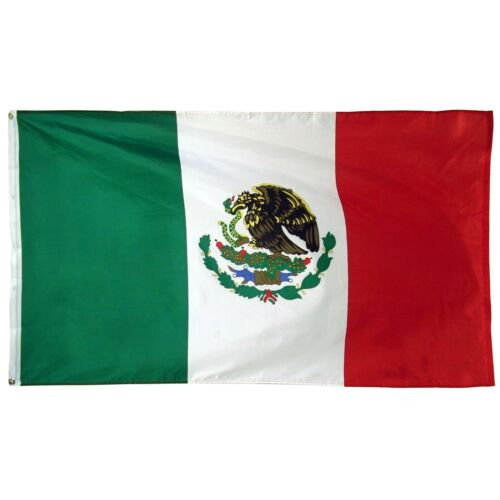 Wholesale Lot of 25 3/'x5/' Polyester Mexican National Flags With Eagle and Snake