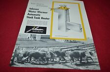 Johnson Water Warmer Automatic Stock Tank Heater Dealers Brochure YABE12