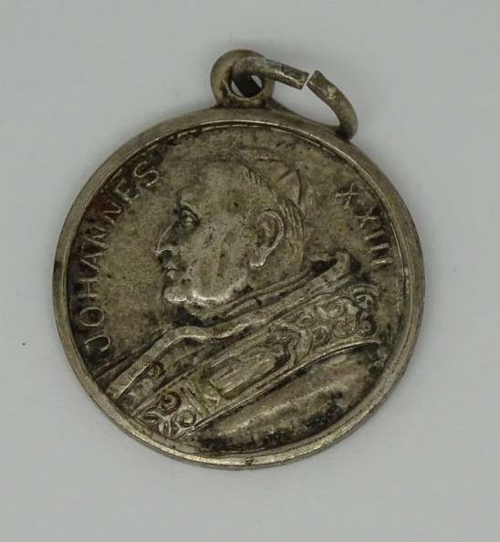 Vintage Silver Plated Pope John Xxiii Charm