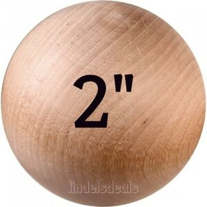 2-INCH-Wood-Balls-Unfinished-Solid-Hardwood-Stain-Grade-Balls-5-Ball-Lot