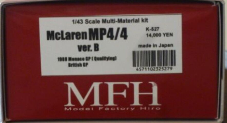 Model Factory Hiro 1/43 Mclaren Mp4/4 Ver.b 1988 Completo Dettaglio Kit K-527