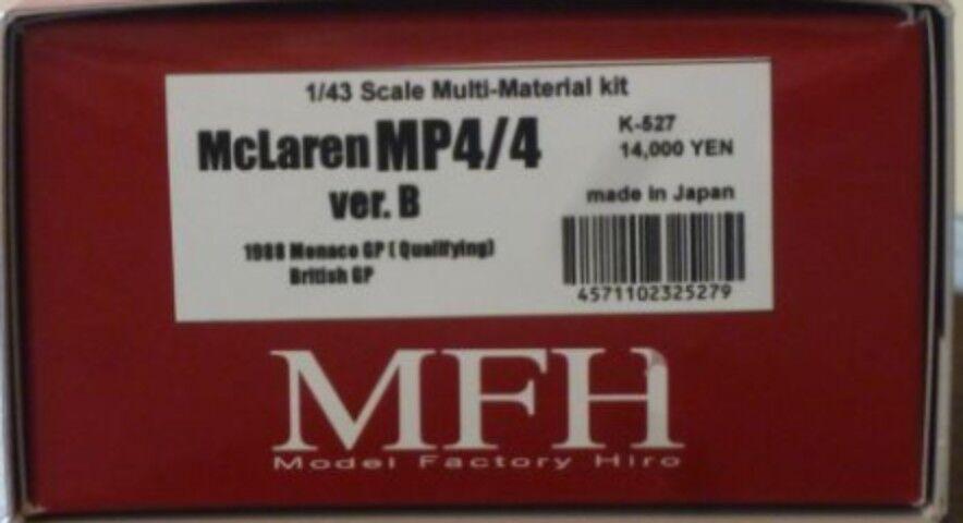 Model Factory Hiro 1 43 Mclaren Mp4 4 Ver.b 1988 Completo Detail Kit K-527