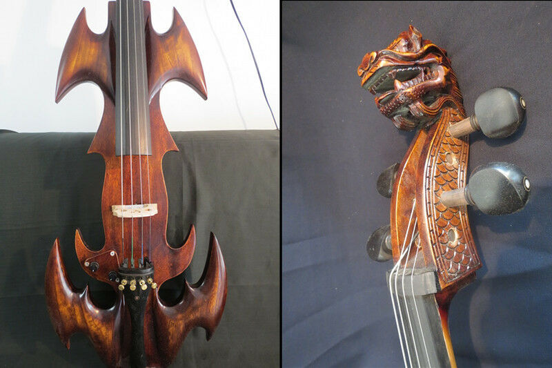 Exklusives Design Crazy-1 Full Größe electric cello 4 4 W carving dragon head