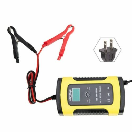 12V 8A 24V 4A LCD Car ATV Motorcycle Pulse AGM Automatic Repair Battery Charger