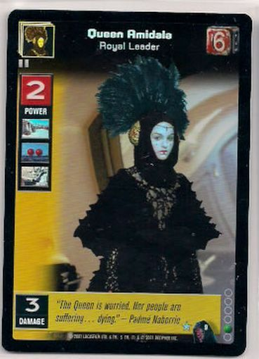 Star Wars Young Jedi CCG Reflections FOIL Queen Amidala, Royal Leader