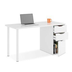 Mesa-de-ordenador-con-cajonera-escritorio-para-oficina-despacho-Blanco-Athena