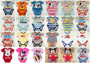 Disney-Baby-Boys-Girls-Bodysuits-Jumpsuit-Baby-grows-rompers-newborn-23-months