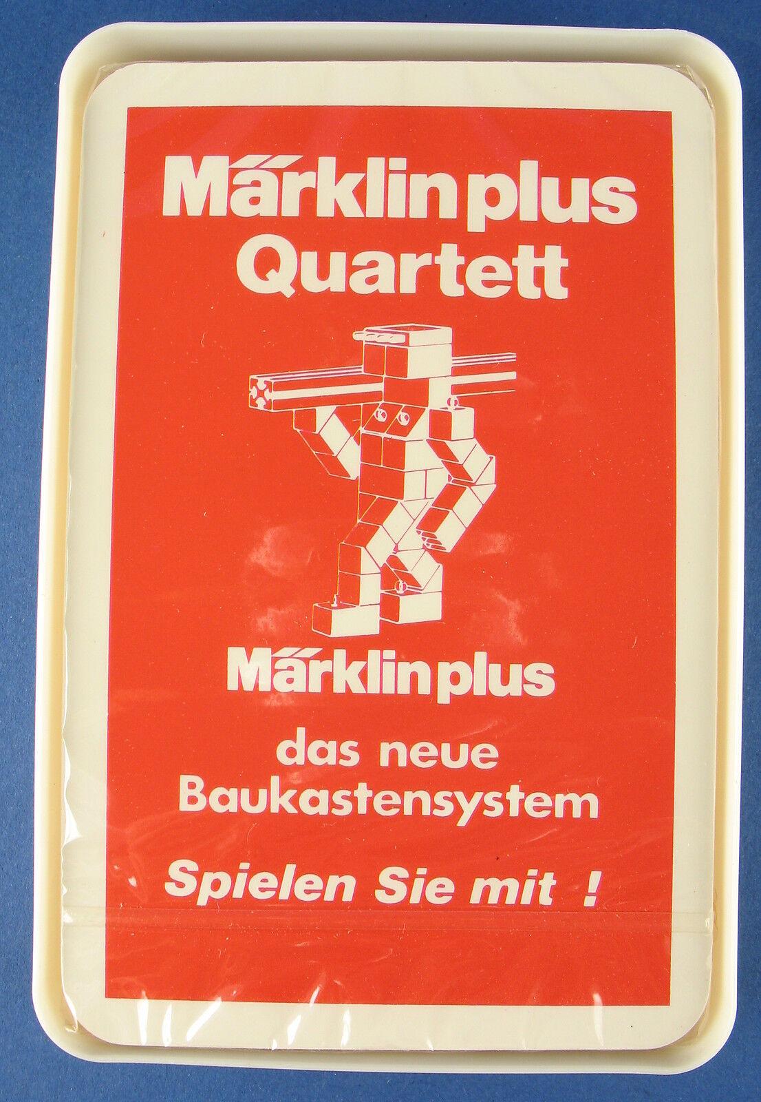 Quartett - Märklin plus - das neue Baukastensystem - WERBEQUARTETT - Neu Folie