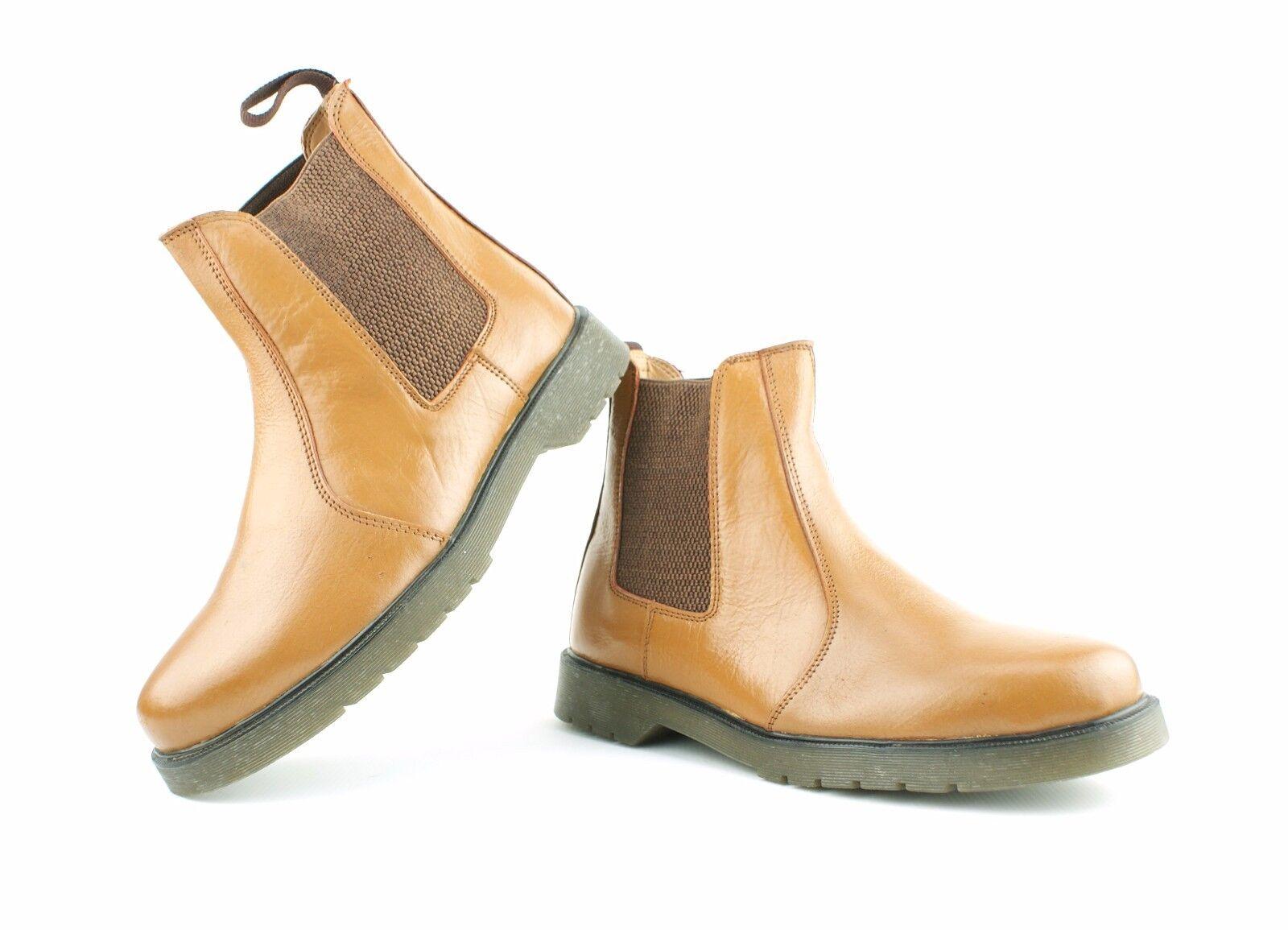 Da AIR Uomo Nuovo Nero Vera Pelle Chelsea Dealer boots AIR Da Suola Scarpe TAGLIA 7 8 9 10 11 d02b06