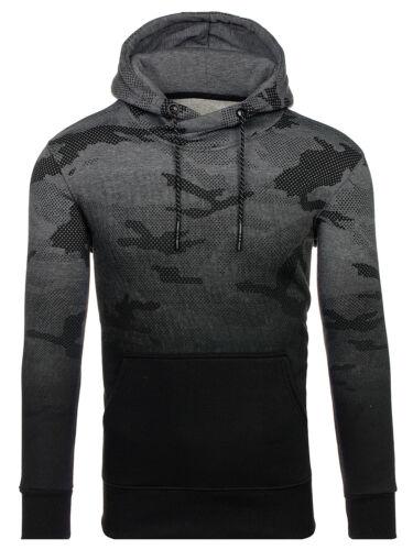 Uomo con cappuccio Pullover Felpa Manica Lunga Top Camo Army hoodie Bolf 1a1 motivo