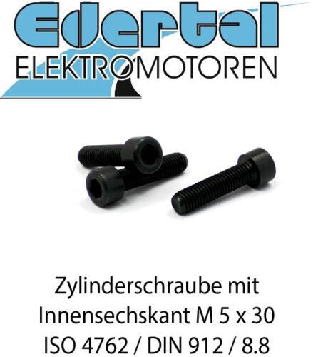 mit Innensechskant Zylinderschraube ISO 4762 blank M5 x 30 8.8 DIN 912