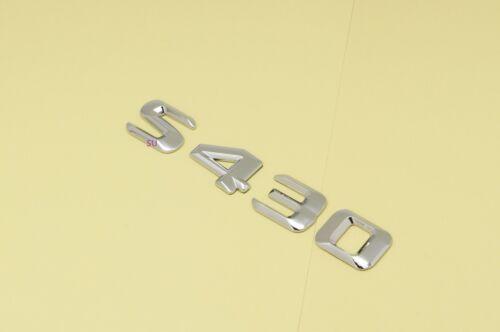 CHROME BENZ S430 REAR TRUNK LETTERS BADGE EMBLEM FOR MERCEDES BENZ S-CLASS