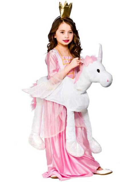 a32f2a37320f Childs Ride on Unicorn Costume Girls Fairytale Magic Kids Fancy Dress Book  Week