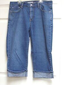 Levi-039-s-515-Women-039-s-Rolled-Cuff-Blue-Jeans-Denim-Capris-Pants-Size-12-Red-Tab