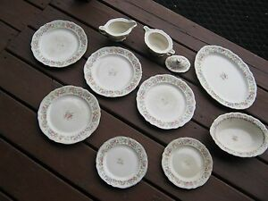 Image is loading 11-Pc-The-Edwin-Knowles-China-Made-In- & 11 Pc The Edwin Knowles China Made In USA Plates Bowls Platter ...