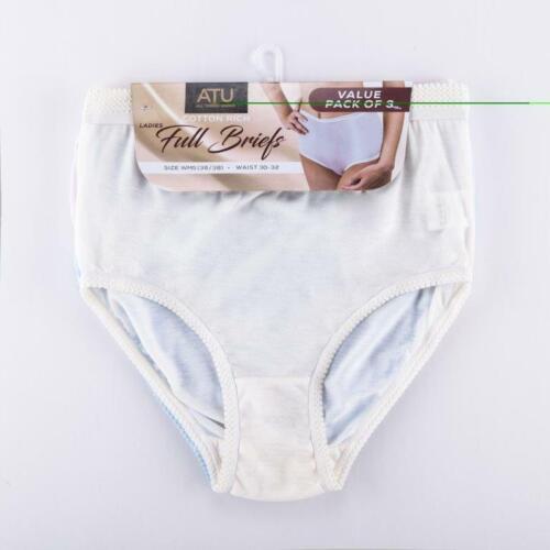 Women/'s Full Mama Briefs 3 Pack Ladies Briefs Underwear Knickers Pants Lingerie