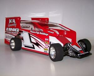 Details about 1/10 RC Eastern Dirt Oval Modified EDM Body Kit w Sail Panels  Customworks GFRP