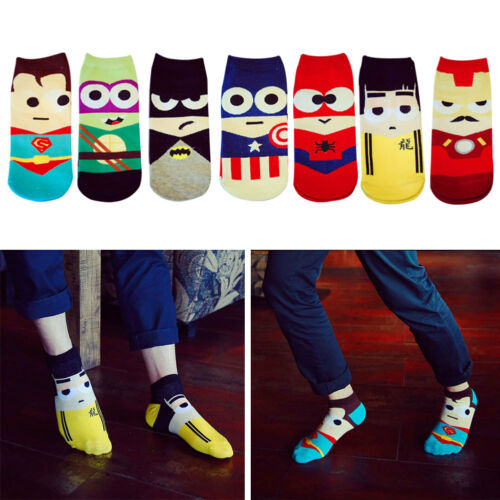 Super Hero Cartoon Man Sock Ankle Cotton Socks Mens Boat Sock Harajuku Hosiery