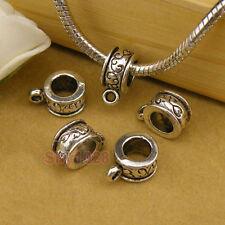 30Pcs Tibetan Silver Bail Fit Charm Bracelet 9x13mm A101