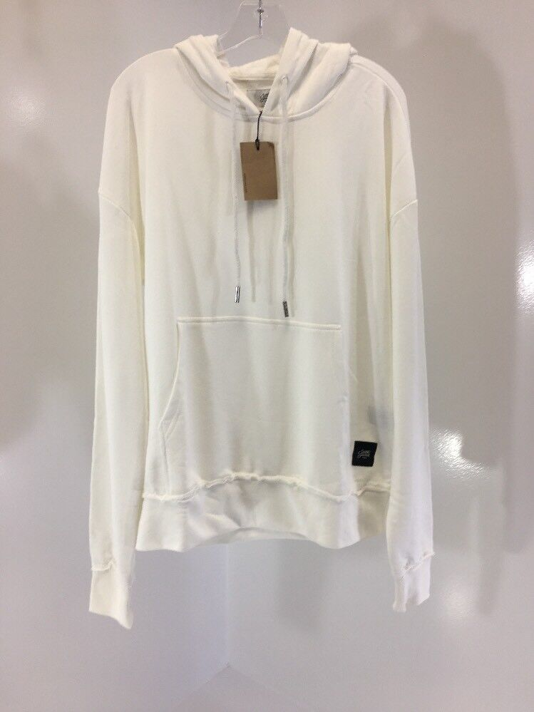 SIXTH JUNE MENS TERRY CLOTH HOODIE WHITE LARGE NWT