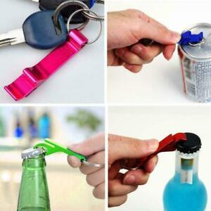 1pcs Random Beer Bottle Can Opener Beverage Keychain Pocket- Claw Bar Ring R4X9