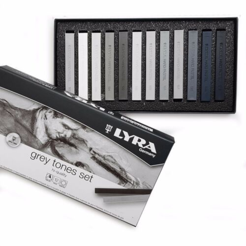 Lyra Grey Tones Set of 12 Fine Art Hard Pastels Made in Germany