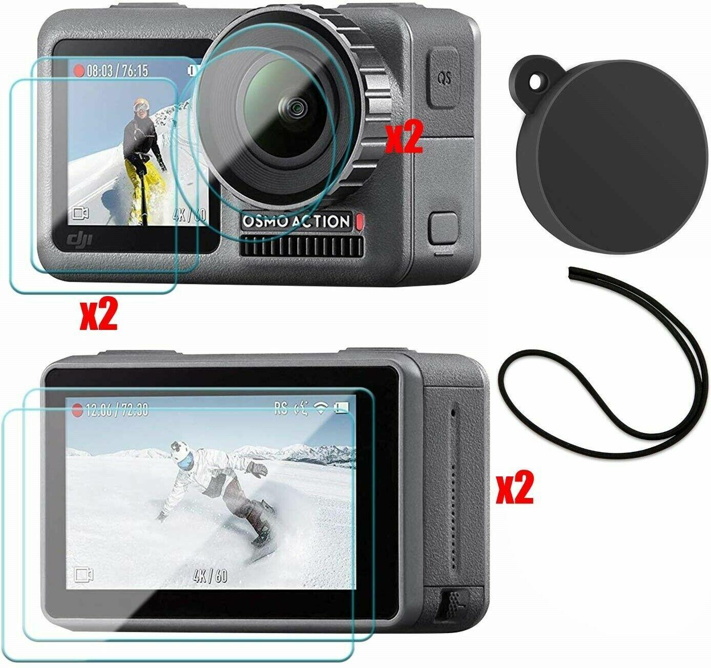 DJI Osmo Action Camera Glass Lens + LCD Screen + Lens Cap Protector Kit (7 Pack)