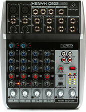 Behringer Xenyx Q802USB 8-Input Mixer w/ USB Audio Interface - NEW Q 802 USB