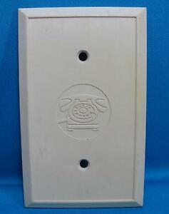 image is loading telephone-wall-plate-tan-plastic-residential-wiring-cover-