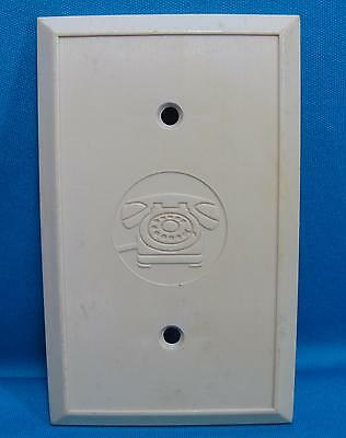 details about telephone wall plate tan plastic residential wiring cover  phone image center