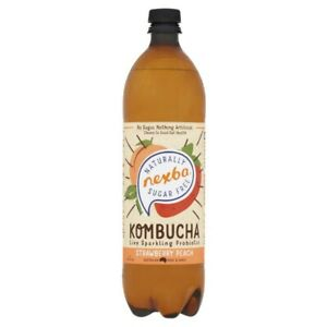 Nexba Strawberry Peach Kombucha Drink 1 litre