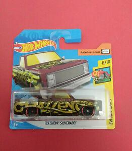 HOT-WHEELS-83-CHEVY-SILVERADO-HW-ART-CARS-SHORT-CARTE-FYC25-R-5981