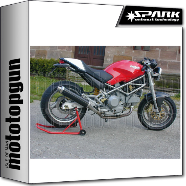 SPARK EXHAUST LOW HOMOLOGATE ROUND CARBON DUCATI MONSTER 900IE