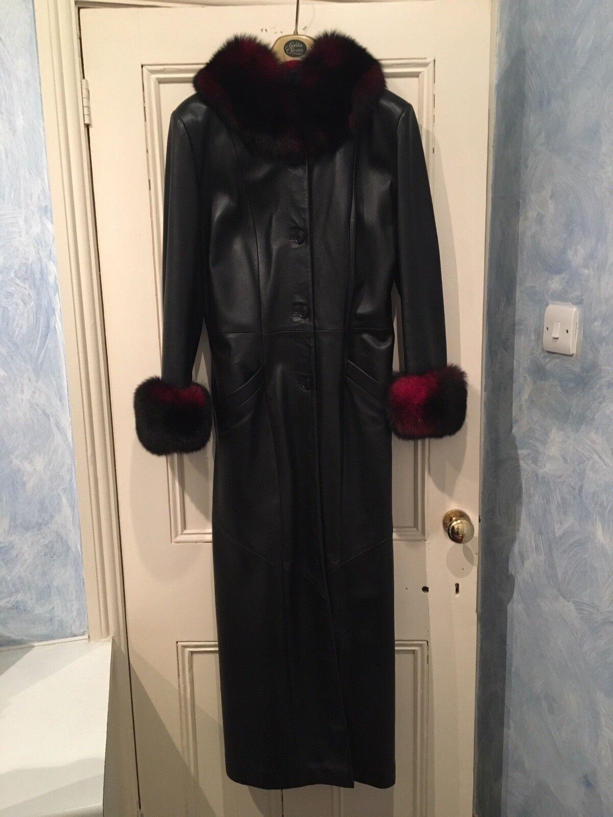 Ashwood  De Cuero Negro con Negro rojo imitación piel nuevo sin etiquetas  venta directa de fábrica
