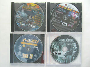 4 Lot Hidden Object PC Games Haunted Manor Lord of Mirrors House of 1000 Doors k