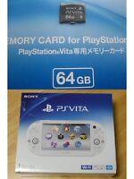 Sony Playstation Ps Vita Pch-2000 Za12 White Wi-fi Model W/ 64gb Memory