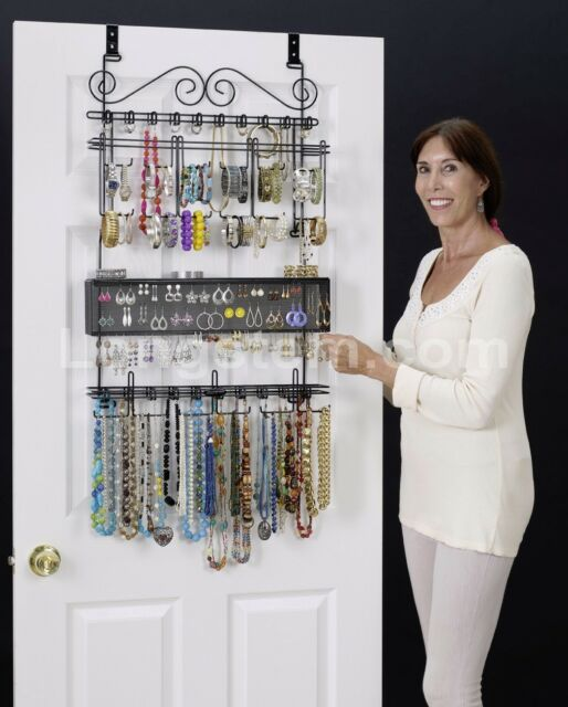 Merveilleux Longstem #6100 Over The Door Jewelry Organizer Valet ~ Patented ~ Rated  Best ~