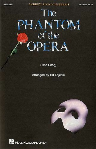 Phantom Of The Opera Vocal Choral Learn Sing Play Piano Music Book