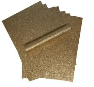 10 A4 ROSE GOLD NON SHED SOFT TOUCH GLITTER PAPER, WHITE BACKED APPROX  150GSM