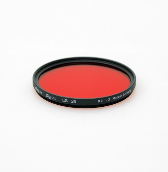 Adaptable Heliopan 58 Mm Rouge 25 Filtre. Neuf Stock