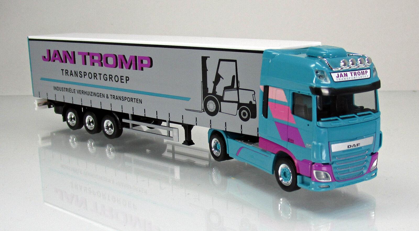 Herpa 306607 DAF XF SSC euro 6 programar las las las cortinas remolcarse camiones jan Tromp NL 1 87 f2c558