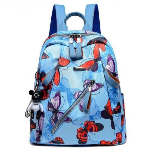 Women Butterfly Floral Backpack Rucksack Anti-theft Satchel School Shoulder Bags