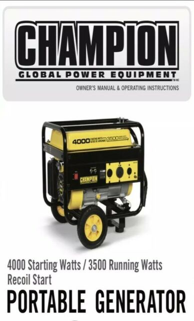 Champion 4000 watt Gas Portable Gasoline Generator with wheel kit