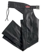 HARLEY-DAVIDSON CLASSICA Lined Black Leather Chaps 98026-12VW WOMENS MEDIUM