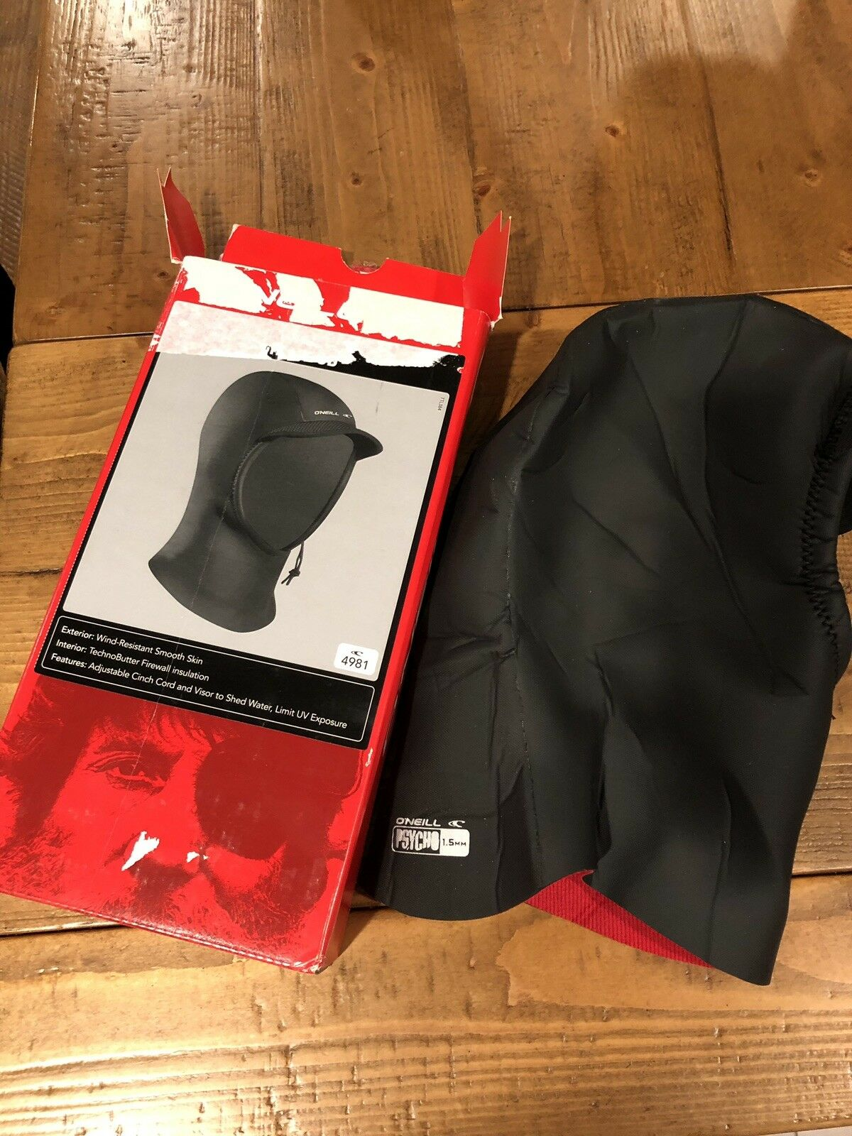 NEW O'neill Psycho 1.5mm Wetsuit Hood Medium   outlet store