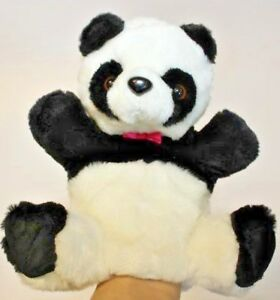 Cute-plush-zoo-Panda-soft-and-cuddly-hand-puppet-role-play-finger-sack-glove