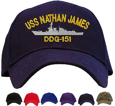 d1bb7a35b USS Nathan James DDG-151 Embroidered Baseball Cap - Available in 6 Colors  Hat   eBay